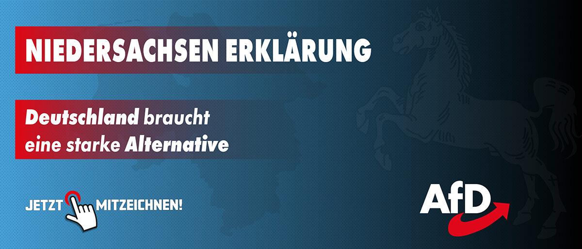 Niedersachsen - Erklärung - JETZT MITZEICHNEN !